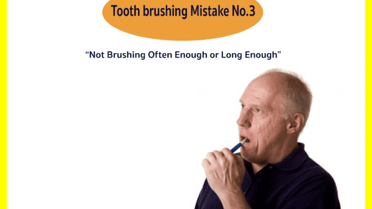 Tooth Brushing Mistake No.3